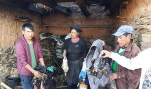Huancavelica: mujer pierde todos sus enseres y animales tras caer rayo sobre su vivienda