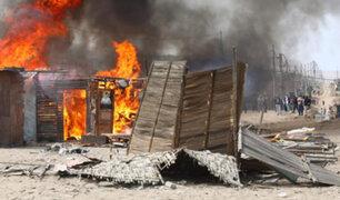 Ancón: incendian casa donde se escondían presuntos implicados en crimen de cinco personas