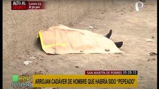 """SMP: hombre hallado muerto habría sido víctima de """"peperas"""""""