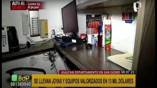 San Isidro: ingresan a vivienda y se llevan joyas y objetos valorizados en 13 mil soles