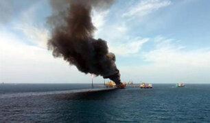 México: un muerto y varios desaparecidos deja incendio en plataforma petrolera