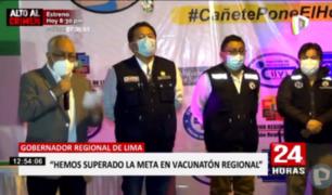 Segunda Vacunatón en región Lima traspasó meta de inmunizados