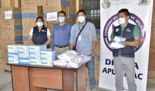 Apurímac: entregan en forma gratuita más de un millón de mascarillas ante eventual tercera ola