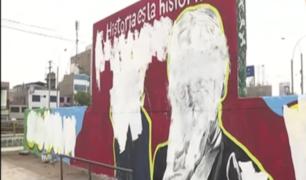 Independencia: vecinos a favor que se haya borrado mural de excanciller Héctor Béjar