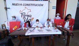 Arequipa: Perú Libre inició recolección de firmas para referéndum por nueva Constitución