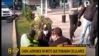 Santa Anita: capturan a delincuentes motorizados que robaban celulares