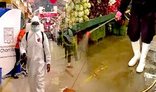 Chorrillos: municipio inicia campaña de desinfección a 54 mercados ante tercera ola