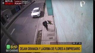 SMP: extorsionadores dejan granada y lágrima de flores a comerciante