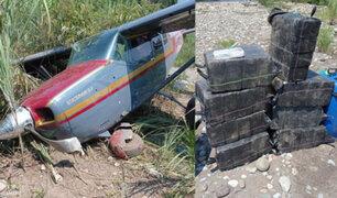 Cusco: Fuerza Armadas hallan avioneta boliviana cargada con más de 300 kilos de droga