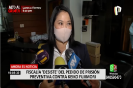 Fiscalía desistió pedido de prisión preventiva contra Keiko Fujimori