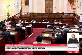 Comisión de Constitución debatió cuestión de confianza