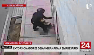 SMP: empresario pide garantías tras hallar una granada y bala en la puerta de su casa
