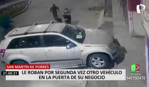 SMP: ladrones asaltan a empresario en su negocio y se llevan su costosa camioneta