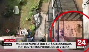 Cercado de Lima: mujer denuncia que está secuestrada por los perros pitbull de su vecina