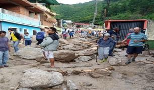 Venezuela: 13 fallecidos tras torrenciales lluvias en Mérida