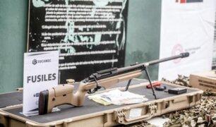 Sucamec dona armas y municiones a la PNP para combatir la delincuencia