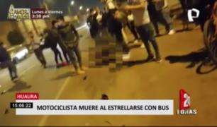 Motociclista pierde la vida tras estrellarse con bus en Huaura