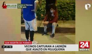 SMP: vecinos unen esfuerzos y capturan a ladrón armado que asaltó peluquería