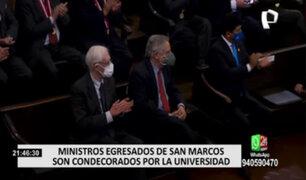 Funcionarios Públicos fueron reconocidos por la Universidad Nacional Mayor San Marcos