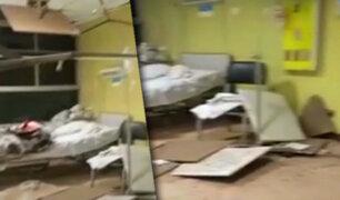 Se desploman baldosas del techo en Hospital Regional de Lambayeque