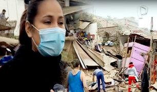 Tras sismo: muro de contención de 3 metros de altura colapsó y destruyó vivienda