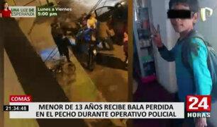 Bala perdida hirió a adolescente durante confuso incidente en Comas