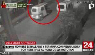 VMT: mototaxista terminó baleado y con pierna rota tras resistirse al robo de su unidad