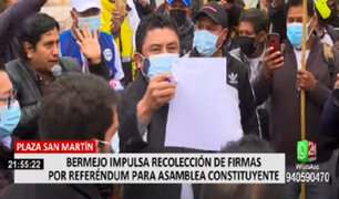 Plaza San Martín: inició en Lima recolección de firmas para referéndum por nueva Constitución