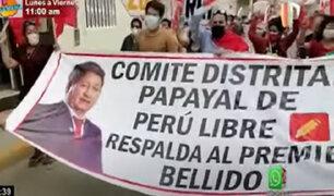 Tumbes: ciudadanos respaldan al gabinete de Guido Bellido