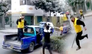 Mototaxistas se enfrentan a palazos contra fiscalizadores en Comas