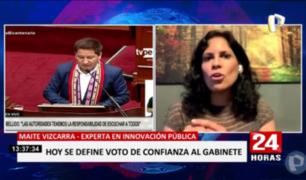 """Maite Vizcarra: """"Gabinete busca dar ciertas certezas que hasta hoy no veíamos"""""""