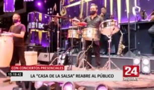 """La """"Casa de la Salsa"""" reabre al público con shows presenciales"""