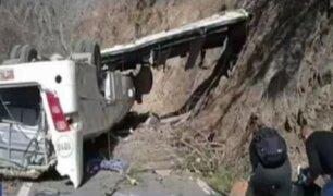 Apurímac: bus de minera Las Bambas que se volcó en Cotabambas contaba con SOAT