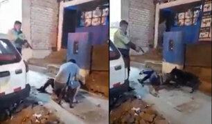 Comas: policía dispara contra perro de raza Pitbull que atacaba a un transeúnte