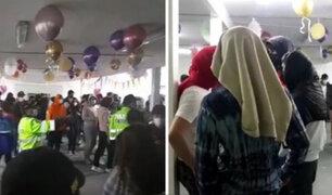 Intervienen a más de 80 personas que participaban de una fiesta clandestina en Miraflores