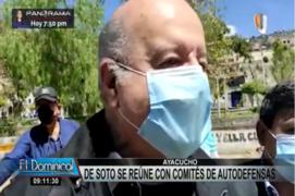 Hernando de Soto viajó a Ayacucho para reunirse con Comités de Autodefensa
