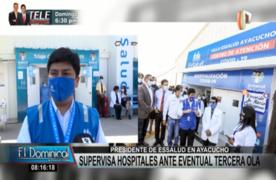 Ayacucho: presidente de Essalud visitó Hospitales Covid-19