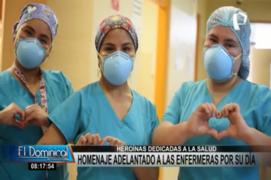 """""""Ángeles turquesa"""": enfermeras reciben homenaje adelantado por su día"""