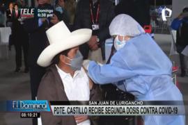 SJL: presidente Pedro Castillo recibe segunda dosis de la vacuna contra la Covid-19