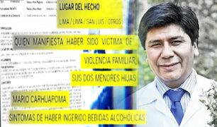 Ebriedad y violencia familiar, los antecedentes de Mario Carhuapoma, Presidente de Essalud