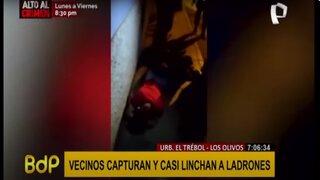 Los Olivos: vecinos capturan y casi linchan a delincuentes