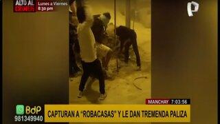 Manchay: capturan a ladrón y le dan una paliza