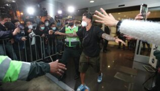 Llegó el 'Bambino': hinchas recibieron a Gianluca Lapadula entre gritos y aplausos