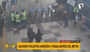 Metro de Lima: cámaras captan agresiones a trabajadores del sistema de transporte