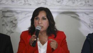 """Dina Boluarte: """"Rechazo toda forma de agresión"""""""