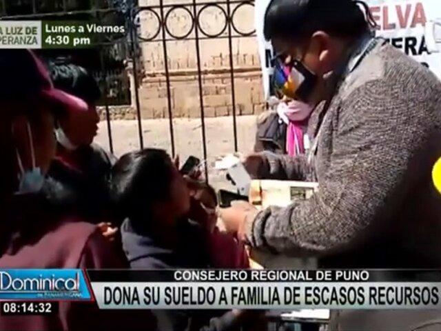 Puno: consejero regional dona parte de su sueldo a familia de escasos recursos