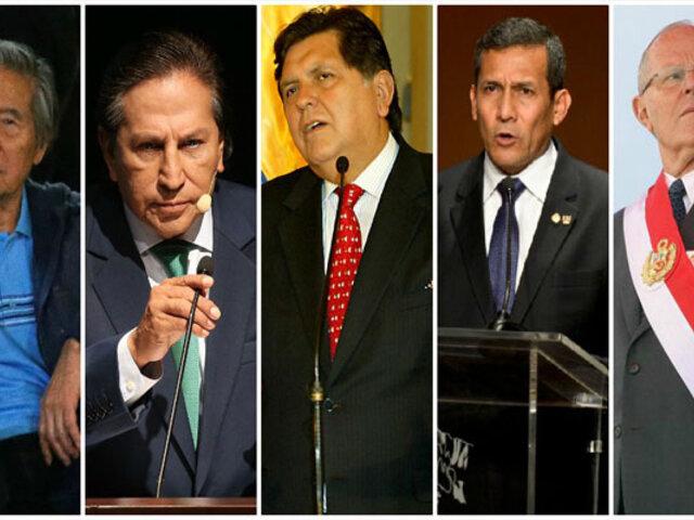 Expresidentes del Perú: tenemos seis exmandatarios investigados por diversos casos de corrupción