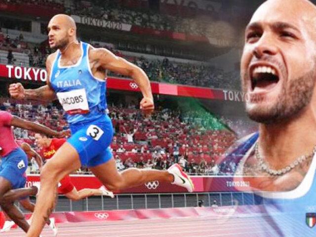 Tokio 2020: Italiano Lamont Jacobs es el nuevo rey de los 100 metros planos