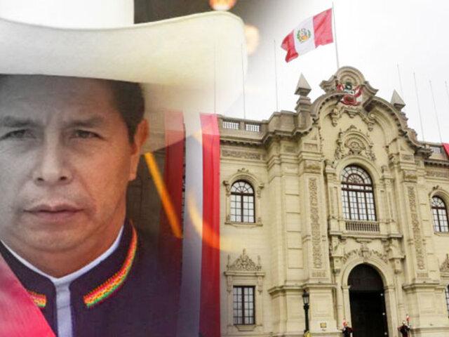 Pedro Castillo se instalará en Palacio de Gobierno