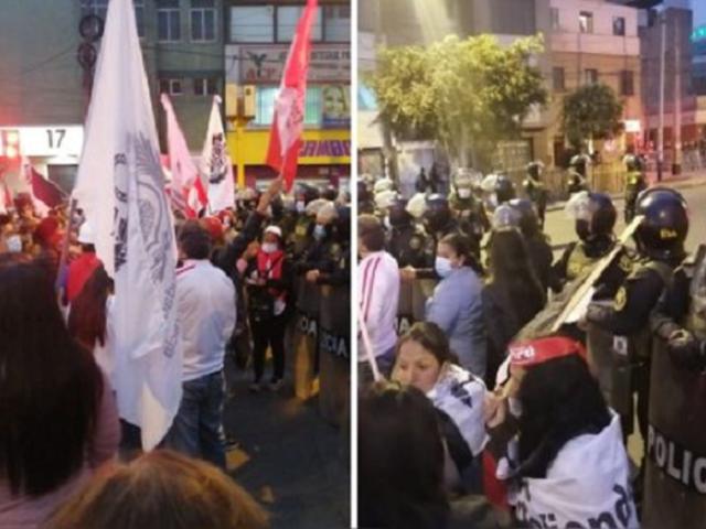 Manifestantes marcharon contra el Gobierno de Pedro Castillo